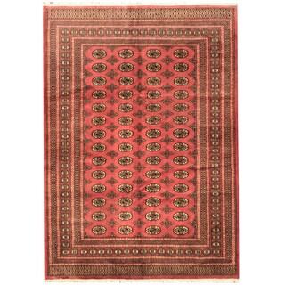 Herat Oriental Pakistani Hand-knotted Prince Bokhara Wool Rug (6' x 9') - 6' x 9'