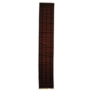Herat Oriental Pakistan Hand-knotted Prince Bokhara Wool Runner (2'6 x 14')