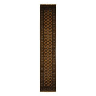 Herat Oriental Pakistani Hand-knotted Prince Bokhara Wool Runner (2'6 x 14') - 2'6 x 14'