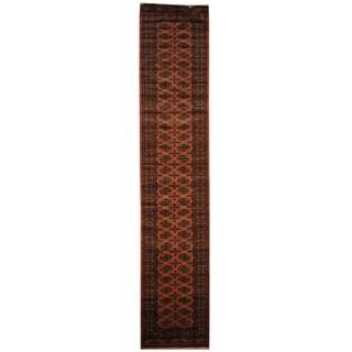 Herat Oriental Pakistani Hand-knotted Prince Bokhara Wool Runner (2'6 x 13') - 2'6 x 13'