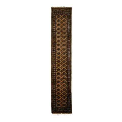 Handmade Prince Bokhara Wool Runner (Pakistan) - 2'6 x 13'