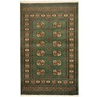Herat Oriental Pakistani Hand-knotted Prince Bokhara Wool Rug (3' x 5') - 3' x 5'