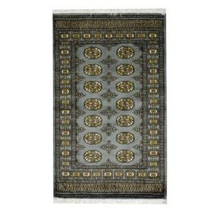 Herat Oriental Pakistani Hand-knotted Prince Bokhara Wool Rug (3' x 5')