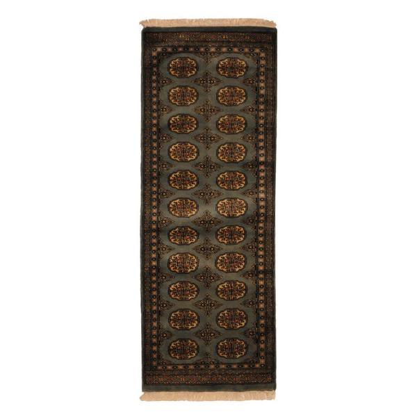 Herat Oriental Pakistani Hand-knotted Bokhara Wool Runner (2' x 6')