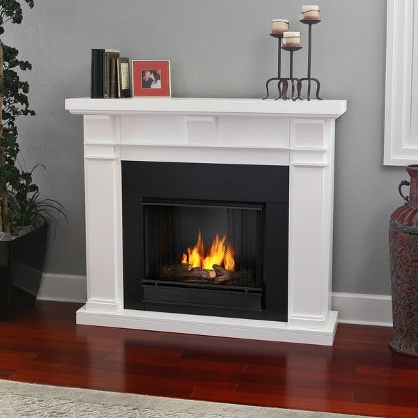Real Flame Porter White Gel Fuel 49.9-inch Fireplace