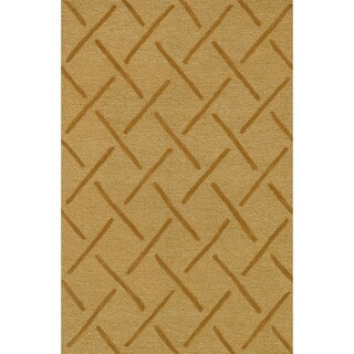 Hand Tufted Benson Gold Rug (5'0 x 7'6)