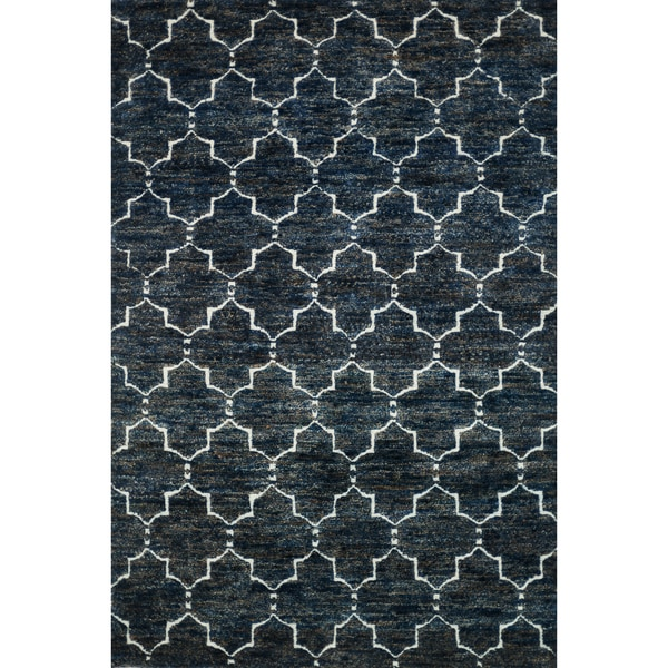 Hand Knotted Phoenix Rug Navy 5 6 Quot X8 6 Quot Free Shipping