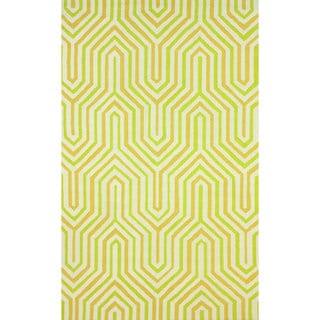nuLOOM Hand-hooked Modern Maze Green Rug (7'6 x 9'6)