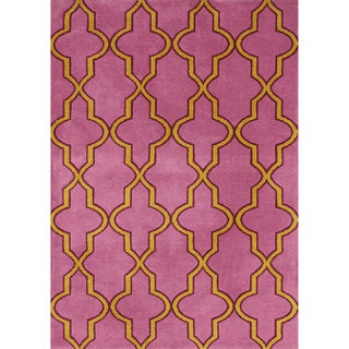 nuLOOM Modern Moroccan Trellis Lattice Pink Rug (7'6 x 9'6)