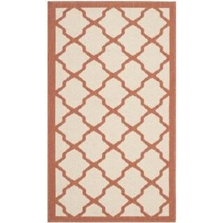 Safavieh Courtyard Moroccan Trellis Beige/ Terracotta Indoor/ Outdoor Rug (2' x 3'7)