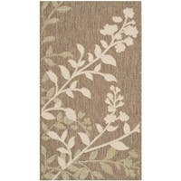 Safavieh Indoor/ Outdoor Courtyard Brown/ Beige Rug - 2' x 3'7'