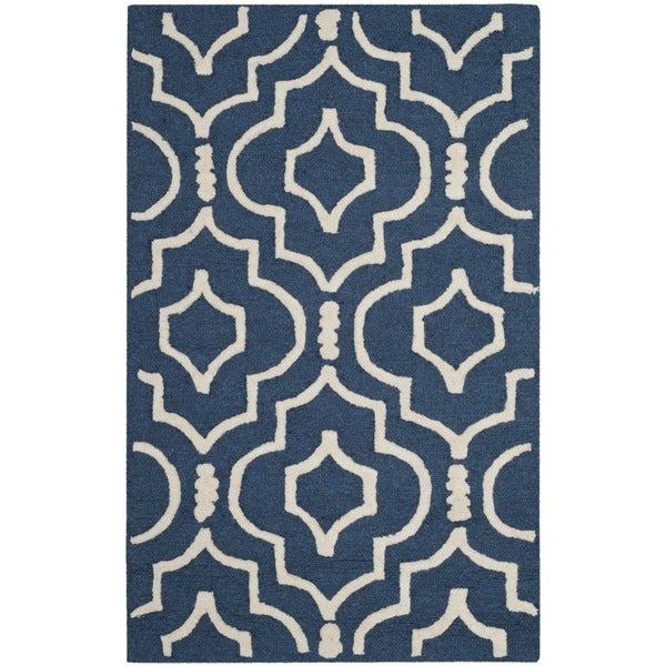 Safavieh Handmade Moroccan Cambridge Trellis-pattern Navy