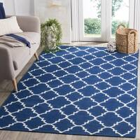 Safavieh Handwoven Moroccan Reversible Dhurries Dark Blue Wool Area Rug - 2'6 x 4'
