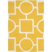 Safavieh Cambridge Gold/ Ivory Handmade Moroccan Wool Area Rug - 3' x 5'