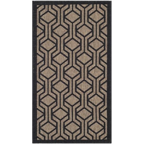 Safavieh Indoor/ Outdoor Courtyard Brown/ Black Rug (27 x 5