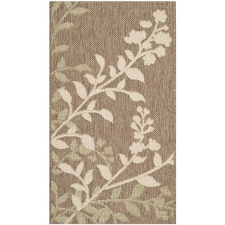 Safavieh Indoor/ Outdoor Courtyard Brown/ Beige Rug (2'7 x 5')