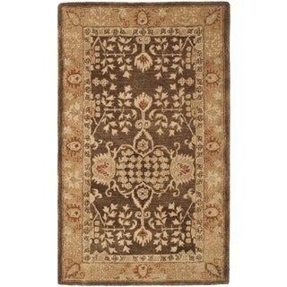 Safavieh Handmade Taj Mahal Brown/ Gold Wool Rug (4' x 6')