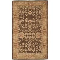 Safavieh Handmade Taj Mahal Brown/ Gold Wool Rug - 4' x 6'