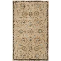 Safavieh Handmade Taj Mahal Taupe Wool Rug - 4' x 6'