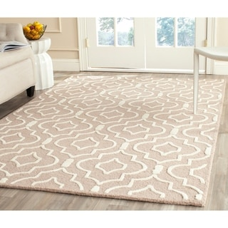 Safavieh Handmade Moroccan Cambridge Collection Beige/ Ivory Wool Rug (6' x 9')