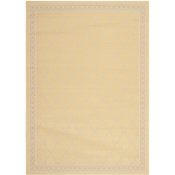 Shop Safavieh Courtyard Trellis All Weather Yellow Beige