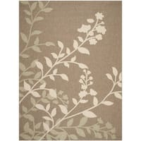 Safavieh Indoor/ Outdoor Courtyard Brown/ Beige Rug - 8' X 11'