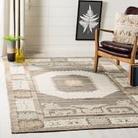 Safavieh Handmade Kenya Ivory/ Brown Wool Rug - 8' x 10'