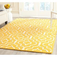 Safavieh Handmade Moroccan Cambridge Gold/ Ivory Wool Area Rug - 9' x 12'