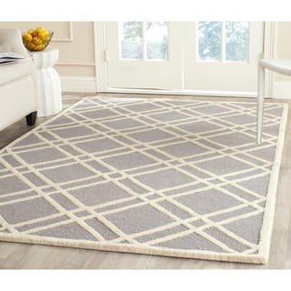 Safavieh Handmade Moroccan Cambridge Silver/ Ivory Wool Rug (9' x 12')|https://ak1.ostkcdn.com/images/products/8531123/P15812776.jpg?impolicy=medium