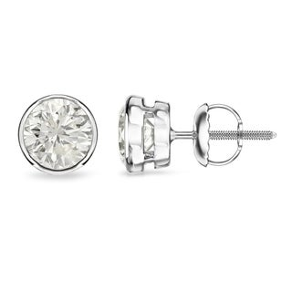 14k Gold Round 1 4ct TDW Bezel Set Diamond Stud Earrings By Auriya