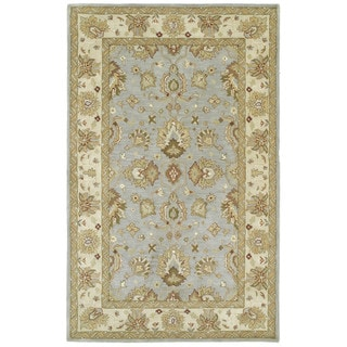 Anabelle Spa Blue Hand-tufted Wool Area Rug (4' x 6')