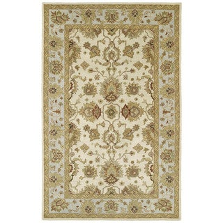 Anabelle Ivory Hand-tufted Wool Area Rug (10' x 14')
