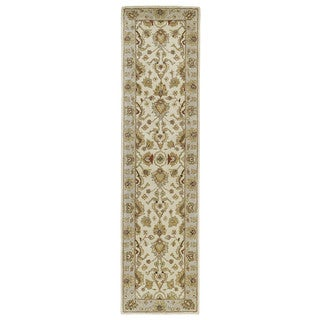 Hand-tufted Anabelle Ivory Wool Runner Rug (2'6 x 10')