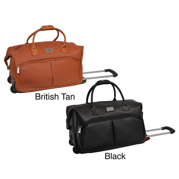 Adrienne Vittadini Carry-on Fashion Rolling Upright Duffel Bag