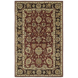 Anabelle Hand-tufted Burgundy Wool Rug (8' x 10')
