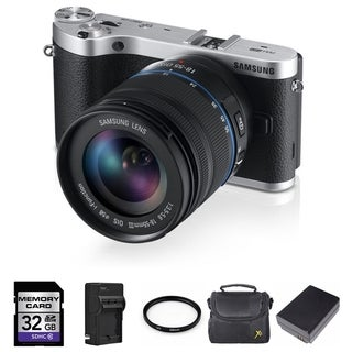 Samsung NX300 20.3MP Mirrorless Digital Camera with 18-55mm OIS Lens 32GB Bundle