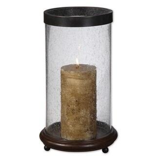 Uttermost 'Layla' Hickory Finished Wood Candleholder