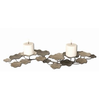Uttermost 'Lying Lotus' Champagne Silver Candleholder