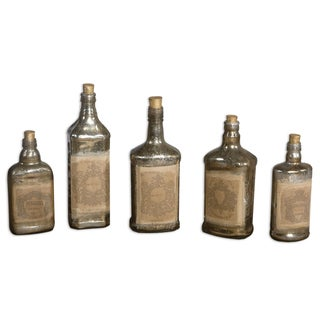 Uttermost Mercury Style Glass Recycled Bottles (Set of 5)