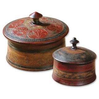 Uttermost Sherpa Decorative Boxes, Set of 2