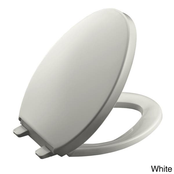 Magnificent Shop Kohler Saile Plastic Elongated Toilet Seat K 4748 96 Machost Co Dining Chair Design Ideas Machostcouk