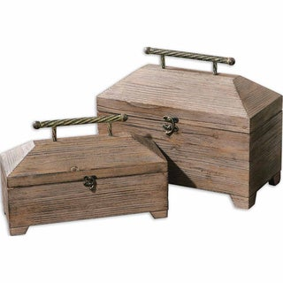 Uttermost Tadao Natural Wood Boxes (Set of 2)