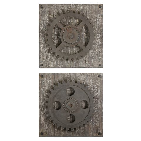Uttermost Rustic Gears Wall Art (Set of 2)