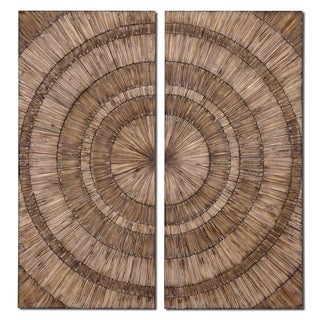 Uttermost Lanciano Wood Wall Art (Set Of 2)