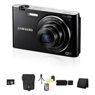 Samsung MV900F MultiView 16.3MP Black Digital Camera 8GB Bundle