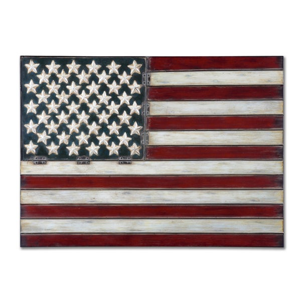 American Flag Wall Art uttermost american flag metal wall art - free shipping today