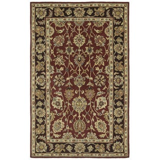 Anabelle Hand-tufted Burgundy Wool Rug (9' x 12')