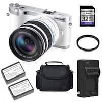 Samsung NX300 20.3MP Mirrorless Digital Camera 18-55mm OIS Lens 32GB Bundle