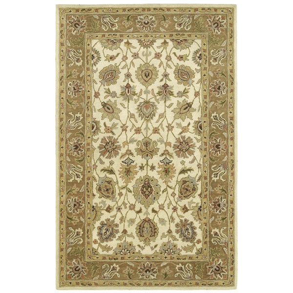 Anabelle Ivory Hand-tufted Wool Area Rug - 10' x 14'