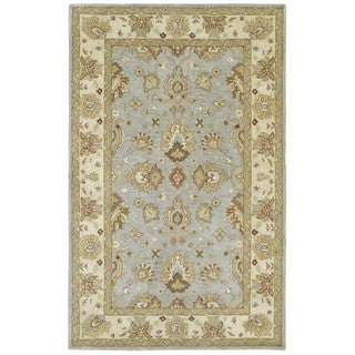 Anabelle Spa Blue Hand-tufted Wool Area Rug (5' x 7'9)